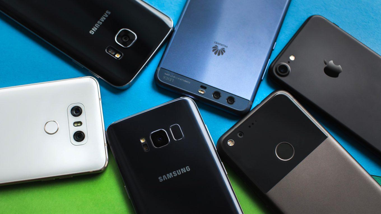 téléphones mobiles de différentes marques