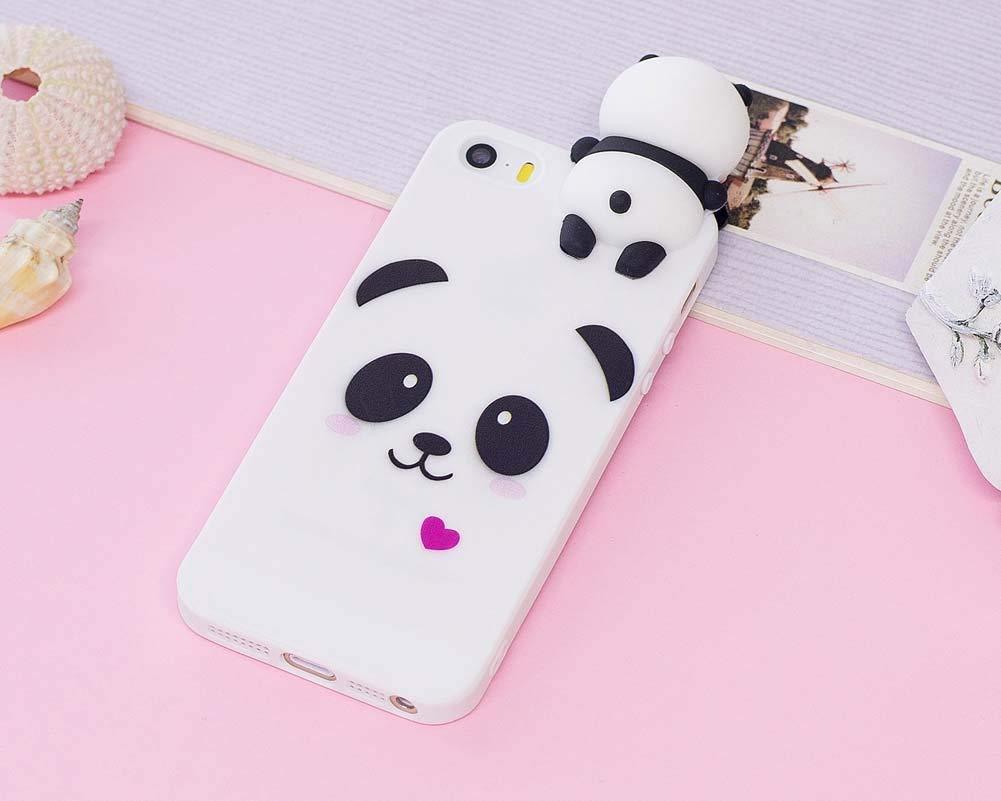 Coque 3D silicone blanche avec motif Panda