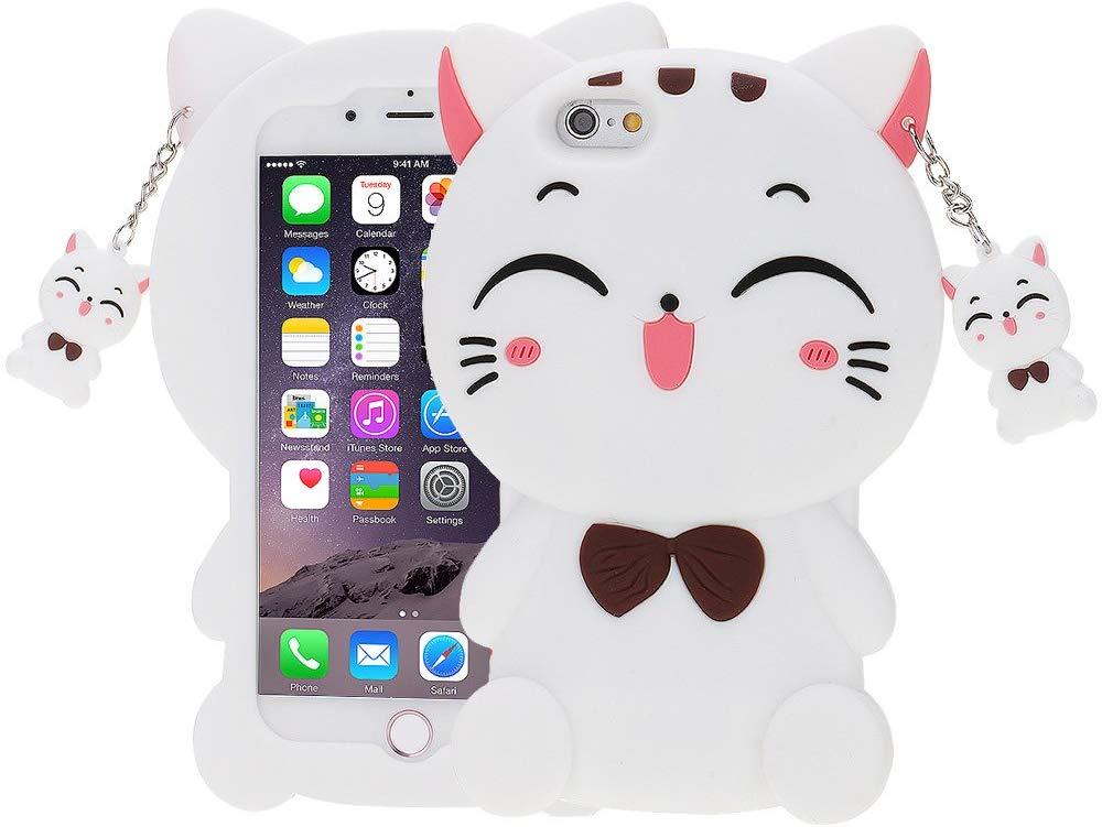 Coque iPhone 5, 5S et SE 3D Chat Souriant