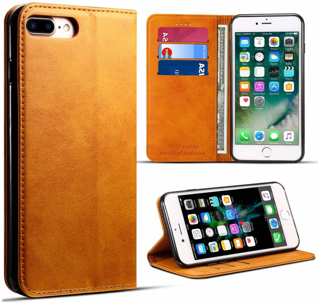 Coque iPhone 6 Plus portefeuille en cuir