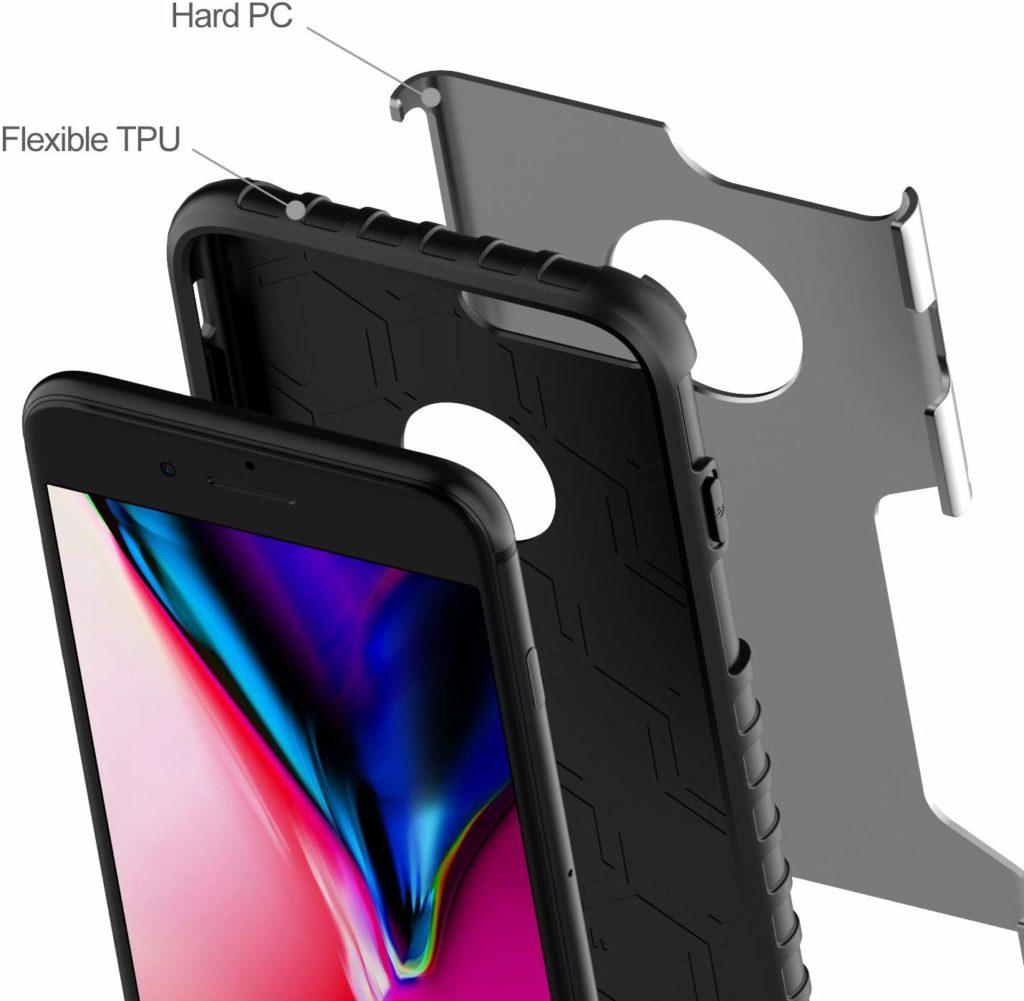 Coque iPhone 8 Plus double protection de JETech