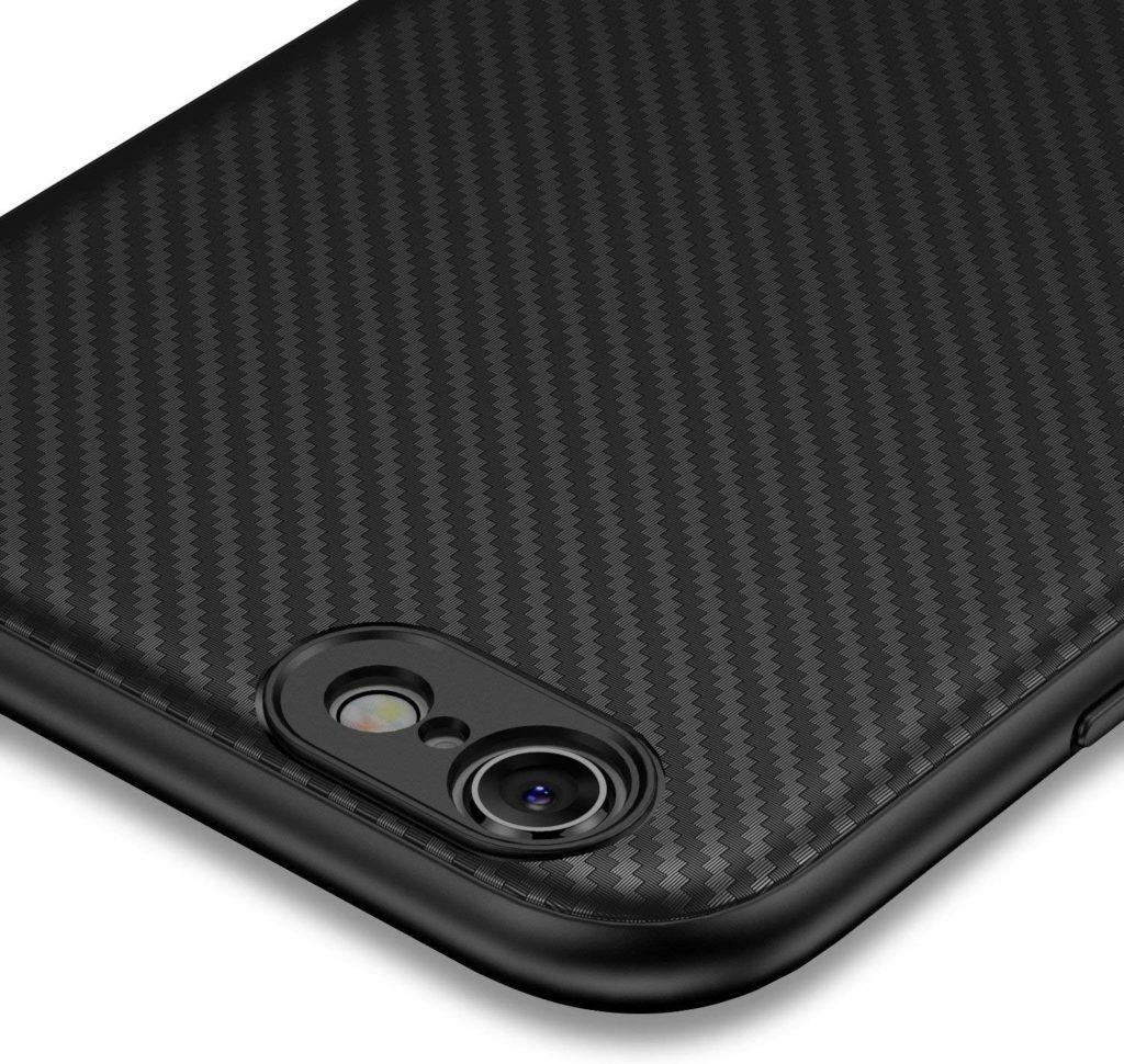 Coque iphone 6 Plus et 6s Plus en fibre de carbone noir